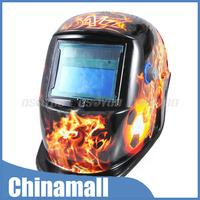 New Design Flames Soccer Football Solar Powered Pro Auto-darkening Welding Helmet Free Express 10pcs/lot