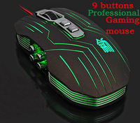 Hote Suzaku usb gaming mouse 800/1200/1600/2400 DPI +USB 9D Professional Competitive Gaming 9 Buttons Mice Mouse