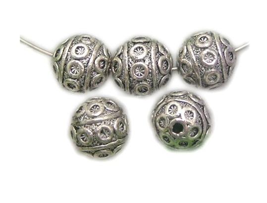 30Pcs 8x8mm Ball Flower Bali Style Metal Antique Tibetan Silver Spacer Beads Findings Jewelry Making DIY