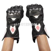 2014 Real Rushed 100% Goat Leather Full Finger Safety Bike Motorcycle Motorbike Motocross Racing Gloves for Pro-biker Mc-02 0700