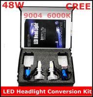 New CREE LED Headlight Conversion Kit 9004 48W 6000K 2*24Watt LEDs Lamp