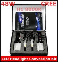 CREE LED Headlight Conversion Kit H1 48W 8000K 2*24Watt LEDs Lamp