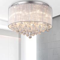 Loft Tom Dixon Led modern simple fabric crystal ceiling chandelier lights 32*45cm diamater good for living room bedroom