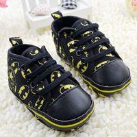 Black batman boys toddler shoes/Super fashion baby boy zipper shoes/Anti skidding cloth first walkers