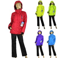 5 Colors Women Winter Outdoor Thick Thermal Sports Outdoor wear Ski Suit women Coat Ski Jackets + Pants 2pc Suit  Free Shipping