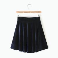 C02 Womens new spring elastic waist velvet short skirt body skirt