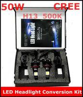 New CREE LED Headlight Conversion Kit H13 50W 5000K 2*25Watt LEDs Lamp