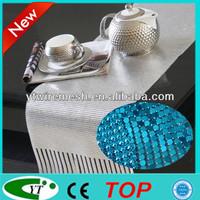 Fashionable and beautiful silver metallic fabric