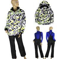 Women's ski suit cotton-padded jacket set for women outdoor jacket skiing windproof trousers waterproof Free Shipping 808