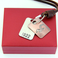 Free Shipping, 2015 Fashion Genuine Leather Necklace Sweater Chain New Arrival Flyer Pendent Unisex Gift Men Women CLPS-031