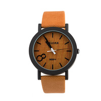 Watches women men dress watches fashions pu leather watch number 8 face watch Quartz Analog Wristwatches for 7 colors -F05