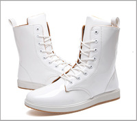 Popular British high help Martin boots, white male high tide youth fashion male red boots cowboy boots Free shipping