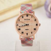 Fashion women watches pu leather watches women luxury round watches women dress clock causal wrist watch new fashion style -F06