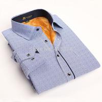High Quality Thick men's warm casual shirt  long sleeve male corduroy shirt man's dress shirts autumn winter