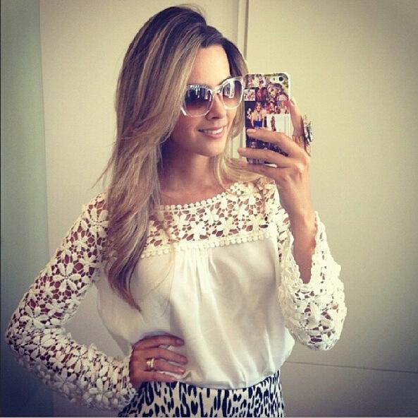 Женские блузки и Рубашки Brand New s/xxxl blusas femininas 14045 женские блузки и рубашки cool fashion 16 s xxxl t blusas femininas tc0099