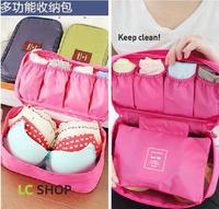 Free shipping 2014 new waterproof nylon socks underwear storage bag pouch