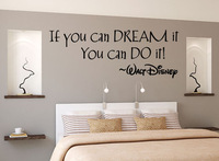 If you can Dream inspirational sayings in English English classroom decorated living room wall stickers PVC custom P362
