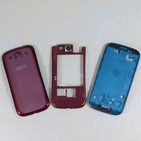 Original Replacement Parts for samsung galaxy s3 i9300 housing full set Cover Carcase case siii Accessories Red