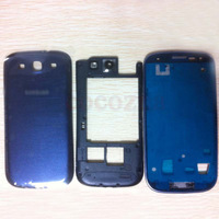 Original Replacement PartsFor Samsung Galaxy S3 ATT I747 T-mobile T999 Blue housing full set Cover Carcase case siii Accessories