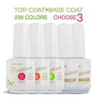 Cristina 230 Colors (Choose 3 Colors +Base +Top Coat)French Color Temperature Change Luminous Color Uv Soak Off Nail Gel Polish