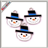 Wholesales diy handmade jewelry making crafts Christmas snow man Charms for key chain