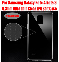 10pc/lot newest Fashion 0.3mm Ultra Thin Slim Clear Transparent Silicon TPU Soft Case for Samsung Galaxy Note 4 Note 3 NO: N9103