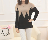 Women Winter Retro Long Section Loose Hedging Thick Sweater Bottoming Knitwear