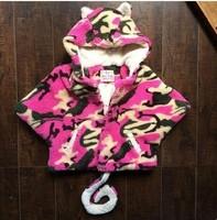 RQQ  girls high-grade winter money plus Velvet Cloak coat color leopard meters A5588 Christmas