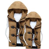 Autumn Winter Lover Women and Men Vest Thicken Sleeveless Jacket  Outdoor Cotton Waistcoat  Casual  Warm Jacket Coat