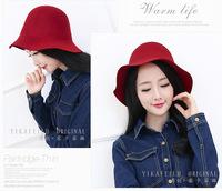Women's Hot Sale New British Retro Wool Fedora Dame Pure Scrub Hat YKFL306  Free Shipping