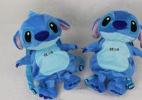 High quality Anime Cartoon Lilo & Stitch children plush cartoon bags kids backpack children school bags 36074379766  201410HX