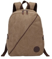 New Mens Rucksack Backpack School Bag Bookbag Canvas Solid Laptop Bags Casual Camping Hiking Bag