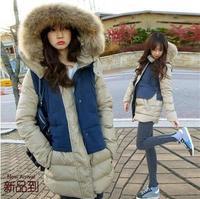 New 2014 Winter Jacket Women fur Parka Hooded Winter Coat Women Down Jacket cute colorful loose Outerwear Plus size 5XL ,B2692