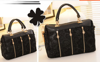 2014 new fashionable casual female Shilei Si can shoulder bag/hand / diagonal. A bag with three. Large capacity. Fine Appearance