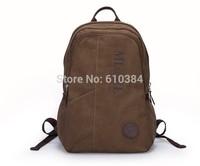 DXYIZU Backpacks Canvas Bag Men Sport Laptop Zipper Totes Luggage Travel Bags khaki School Student Bag Quality
