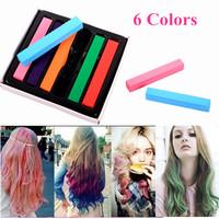 Dye Hair Sticks Jumbo Chalk Temporary Bright Color Hair Chalk Colorful Hair Chalk 6 Colors  Free Shipping