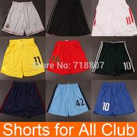 14/15 Men's Soccer Shorts for All Team Club Real Madrid Shorts Chelsea Dortmund Jerseys White Black Blue Yellow Green Pink Pants