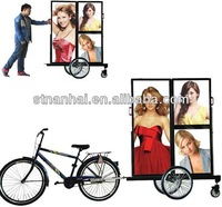 BUY 05 GET 1 FREE J9B  [7-8hrs]  New products double faces aluminum mobile advertising LED bike trailer sign