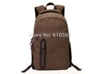 Canvas Bag Backpacks Men Large Travelling Bag Laptop Solid Leather Zipper Classical Design Lauggage