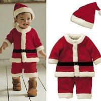 Children Boys Christmas Celebration Party Jumpsuits Suit Red Santa Costume Children CH004