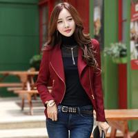 New Fashion Celebrity Coat Back Blet Design Vintage Zipper Short Cardigan Elegant Female Autumn Jacket Casaco Curto De La 3306