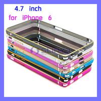 For Apple iPhone 6 Bumper Luxury Aluminum Metal Bumper Case for iPhone 6 4.7 inch