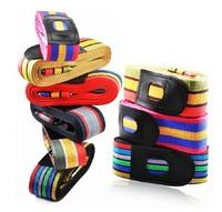Adjustable Travel Luggage Strap Suitcase Baggage Belt Combination Lock Secure Lock Safe Belt Strap Multi-color 4M New