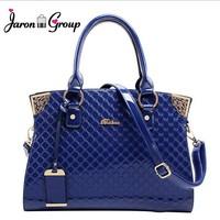 Jaron Group New 2014 Women Handbags Genuine Patent Leather Handbag Fashion Women Messenger Bags Brand Tote Designs Shoulder Bag