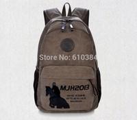 Multi-function Vintage Canvas Leather Hiking Travel Military Backpack For Men/Women Rucksack Laptop Satchel School Bag