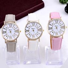 2015 Luxury brand quartz watch women dress watches fashion casual top quality leather watch geneva hour clock relogio feminino(China (Mainland))