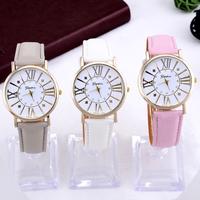 Geneva watch Women dress watches rose gold fashions quartz watch for female Analog round dial hour Atmos Clock relogios relojes