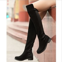 2014 new winter boots knee flat bottomed with knee boots boots stovepipe elastic boots female boots wholesale