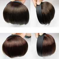 Hot sale Cosplay style Women New Clip on front Bangs Fringe Straight Bangs Hair wig band Headband Hair piece Free shipping