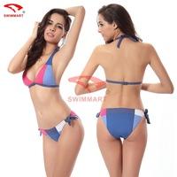 Bikini Set 2014 New Cheap Sexy Fashionable Secret Blue Fringe vintage Swimwear Victoric Fringe Swimsuit Push Up Padded Cup